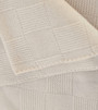 Cream Lattice Knit Cashmere Throw