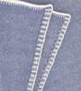 Stonewash Blue Bird's Eye Cashmere Knit Throw