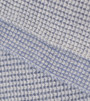 Stonewash Blue & Light Grey Waffle Knit Cashmere Throw