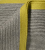 Platinum & Chartreuse Ribbed Knit Yak Down Throw