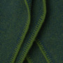 Fern Green & Dark Navy Bird's Eye Knit Cashmere Throw - Limited Edition Collab with Pitkin Projects