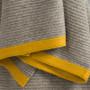 Platinum & Gold Ribbed Knit Yak Down Throw
