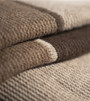 Striped Three-toned Purl Knit Yak Down Throw