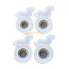 Dog Silicone Resin Ring Mold (4 pieces) (4 sizes)