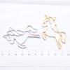 Unicorn Open Bezel Gold Charm - 4 pieces