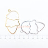 Double Scoop Ice cream Open Bezel Charm - 4 pieces