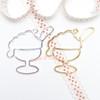 Ice cream Sundae Open Bezel Charm - 4 pieces