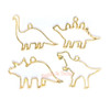 Dinosaur Open Back Bezel Gold Charm - 4 pcs