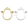 Devil Winged Cat Open Bezel Gold Charm (4 pieces)