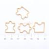 Puzzle Open Bezel Outline Charm - 4 pieces