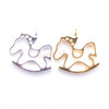 Rocking Horse Open Bezel Metal Charm - 4 pieces