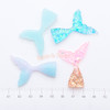 Gradient Ombre Mermaid Tail Resin Cabochon - 6 pieces