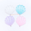 Magical Glitter Seashell Charm or Cabochon - 4 pieces