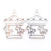 Theme Park Carousel Unicorn Open Bezel Charm (4 pieces)