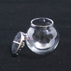 Glass Dome Wishing Bowl with Silver Crown Cap (2 Sets)