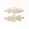 Sakura Flower Cherry Blossom Petal Open Bezel Charm (4 pieces)