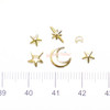 Magical Girl Star Moon Gold Inclusions Resin Fillers (1 Pot)