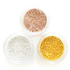 Plated Gold or Silver Metal Micro Beads (1.2mm) (1 Pot)