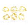 Fairytale Theme Open Bezel Gold Set (6 pieces)