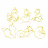 Fox Animal Theme Open Bezel Gold Set (6 pieces)