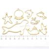 Marine Life Theme Open Bezel Gold Set (6 pieces)