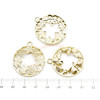 Assorted Circle Frame Theme Open Bezel Gold Set (9 pieces)