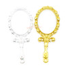 Princess Mirror Open Bezel Metal Charm (4 pieces)