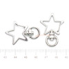 Silver Star Snap Clip with Swivel Ring (6 pieces)