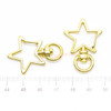 Gold Star Snap Clip with Swivel Ring (3 pieces)