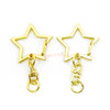 Gold Star Snap Clip Key Chain (3 pieces)