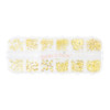 Gold Nail Art Charms Embellishments Inclusions Resin Fillers
