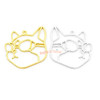 Kawaii Cat with Goggles Sunglasses Open Bezel Charm (4 pieces)