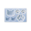 Cat and Paw Clear Silicone Mold