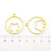Kawaii Bear Circle Open Bezel Charm (4 pieces)