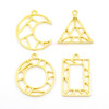 Geometric Shapes Theme Open Bezel Charms (4 pieces)