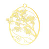 Sakura Flower Metal Gold Foil Resin Oval Backing (2 pieces)