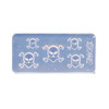 Mini Skull Head Crossbones Silicone Mold (5 Cavity)