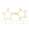 Star Open Bezel Charms (4 pieces)