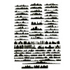 Silhouette Buildings Design Clear Resin Film
