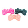 Glitter Bow Ribbon Resin Cabochon (3 pieces)