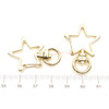 Light Gold Star Snap Clip with Swivel Ring (3 pieces)
