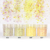 Iridescent Yellow Colours Hexagon Glitter Set (4 pieces)