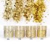 Gold Colours Hexagon Glitter Set (4 pieces)
