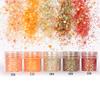 Iridescent Autumn Colours Hexagon Glitter Set (5 pieces)