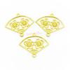 Sakura Fan Open Bezel Connector Charms (4 pieces)