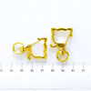 Kitty Cat Snap Clip Swivel Ring (5 pieces)