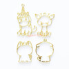 Kawaii Animals Theme Open Bezel Charms (4 pieces)