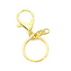 Gold Key Chain Ring with Swivel Ring Short Chain (4 pieces)