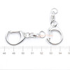 Silver Snap Key Chain with Swivel Ring (10 pieces)