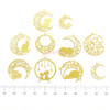 Crescent Moon Kitty Theme Metal Charm (10 pieces)